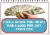 Show you how i make over $600 per day from CPA