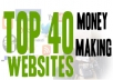 create 40 Money Making Websites Promoting Clickbank Products On 40 Hot Niches