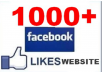 provide 1000 Real Facebook Likes on Your Website