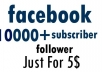 Add 10,000 facebook profile followers in 48 Hours