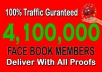 promote link 4,100,000 real FACEBOOK members