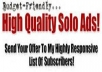 double Blast Your Solo ads To12M High Converting Fresh,Hungry Getresponse List
