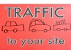 Provide Unlimited Website TRAFFIC To Your Site For One Year