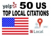 list  your local business to the 50 top US citations sites to boost your Google places