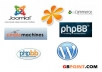 install wordpres, phpbb or SMF blog/forum for you