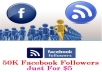 Add 50,000 Facebook Profile Subscriber Just