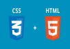 develop a website using html5 and css3