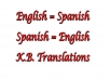 translate 500 words Spanish to English and viceversa