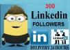 give you 300+ Linkedin Share or Linkedin Followers