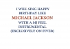 sing Happy Birthday like Michael Jackson