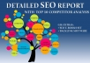 Provide a Detailed SEO Report and Top 10 Competitor Analysis for Your Website