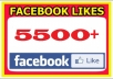 add 6000+500 facebook likes for your fan page