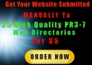 Submit Your Website MANUALLY To 25 High Quality PR3-7 Web Directories With Full Reports