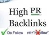 give 160 High PR Do Follow Auto Approve Blog List