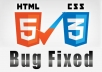 fix your html css and php bugs