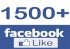 give you 1,500 Good Quality Facebook post or photo or status like