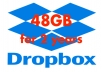 expand your DROPBOX with 48GB for 2 years