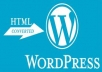 convert your html file to wordpress theme