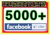 give you 5000 Facebook Likes on your fan page