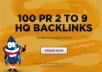 do 100 PR 2 to 9 high pr backlinks, google and youtube friendly seo