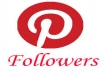 add 250 + Pinterest Followers Only for