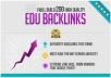 build 300 EDU and gov backlinks of high pagerank