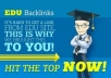 do 100 HighPR EDU Backlinks