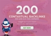 create 200 high PR contextual backlinks from 100 gov and edu wiki domains