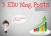 create 3 EDU Blog Posts