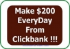 reveal To You My Simplest Method On How I Earn Over 200 Dollars From CLICKBANK