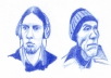 draw your portrait or anything in blue pencil