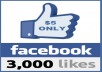 provide you 3000 Real Human facebook likes on photo post within 24 - 48 hours