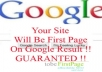make your site first page of google result in a month