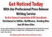 write a Stunning press release and submit to 25 high authority sites including PRBuzz