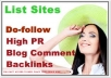 create you 40 High Quality  PR9 backlinks , DOFOLLOW , Panda and Penguin safe
