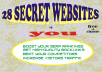 SHOW you 28 SECRET websites where you can submit your link to 1,300+ search engines and 155,000+ FFA directories and 1,500 sites + 1500 backlinks all for FREE + AMAZING BONUS