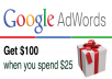 give you 100USD Google Adwords coupon