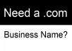 find a domain name for your business (.com)