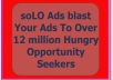 solo Ads Blast Your Ads To Over 14 million Hungry Opportunity Seekers