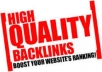 generate 1000 High Quality Backlink SEO And would Ping Them All