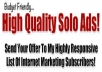 solo Ads Blast Your Ad To Over 15 Million FRESH New Hungry Opportunity Seekers