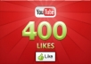 provide you 400+ YouTube Video Likes,100% Safe