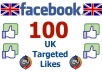 add 100 London UK based Facebook Likes or Fans to your Facebook Fan Page, Post, Photo or Website