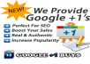 provide you 1200 Google Plus One +1 votes,CHEAP OFFER