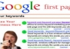 increase your site rank up to first page of google