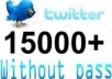 Give You 15,000+ Permanent Staying Twitter Followers