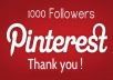 Add Looking Real 1000 Pinterest Followers Withou Your Admin Access