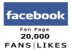 Give You 20,000+ Facebook Fan page,Follwers OR Post likes