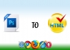 convert psd to html Fixel Perfect