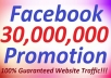 spread your website on 30 Million Facebook fans and Twitter for get traffic